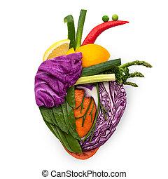 nourriture, pour, heart.
