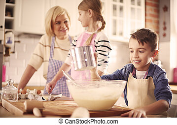 nourriture, préparer, cuisine