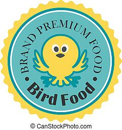 nourriture, prime, oiseau, icône