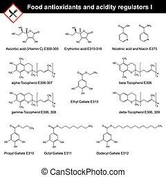 nourriture, régulateurs, antioxydants,  acidity