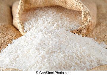 nourriture, riz, asiatiques, agrafe