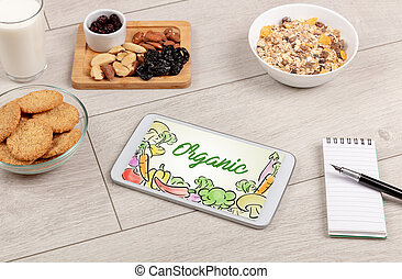 nourriture, sain, composition