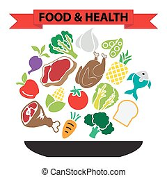 nourriture, sain, nutrition