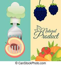 nourriture, sain, produit, naturel, affiche