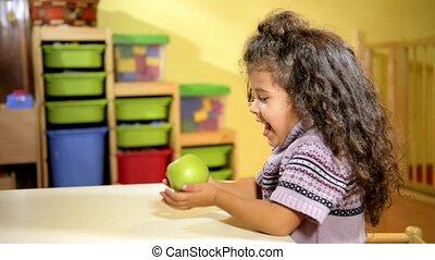 nourriture saine, écoliers