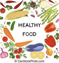 nourriture saine, bannière