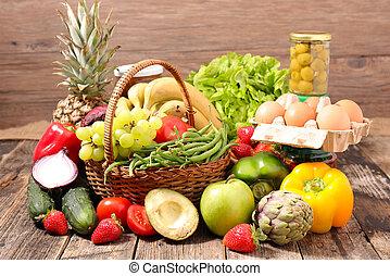 nourriture saine, composition