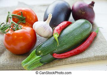 nourriture saine, concept, cuisine