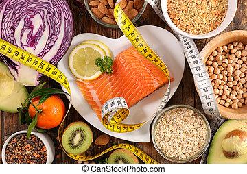 nourriture saine, concept