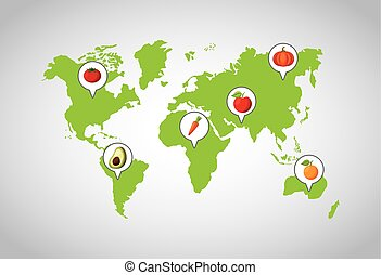 nourriture saine, conception, être régime