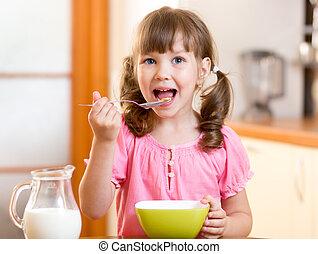 nourriture saine, cuisine, manger, enfant