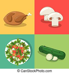 nourriture saine, ensemble