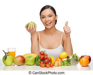 nourriture saine, femme