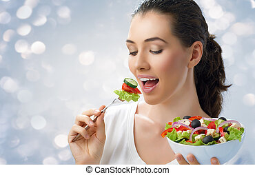 nourriture saine, manger