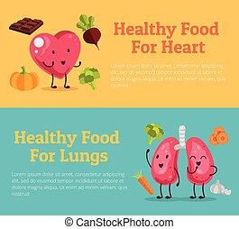 nourriture saine, organes