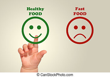 nourriture saine, pour, gosses