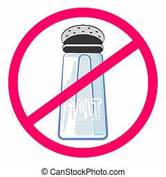nourriture saine, sans, sel