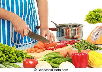 nourriture saine, table cuisine