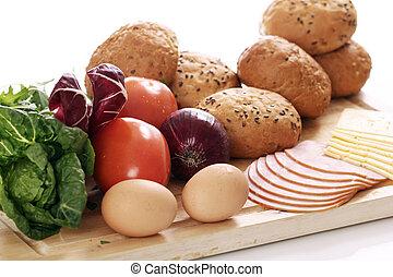 nourriture saine, table
