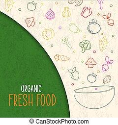 nourriture salade, sain, légume, concept, bol