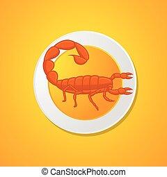 nourriture, scorpion