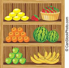 nourriture, shelfs, supermarket.