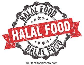 nourriture, signe., stamp., halal, cachet