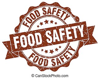 nourriture, signe., stamp., label sécurité