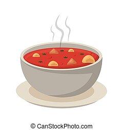 nourriture, soupe, chaud, tacos