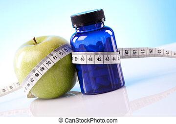 nourriture, suppléments, régime sain