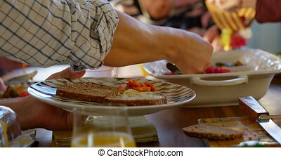 nourriture, table, dîner, famille, 4k, avoir