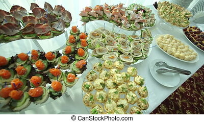 nourriture, table