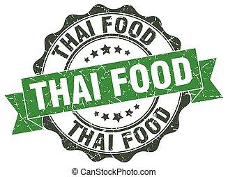 nourriture, thaï, stamp., signe., cachet