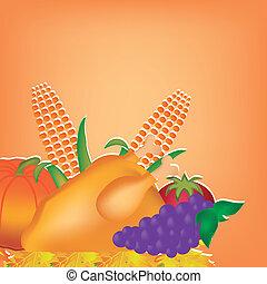 nourriture, thanksgiving, jour