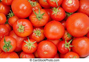 nourriture, tomate, groupe