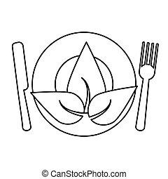 nourriture, végétarien, régime, santé, ligne mince