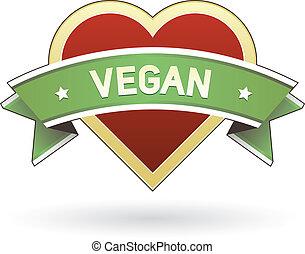 nourriture, vegan, étiquette