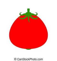 nourriture, vegetable., dessin animé, isolated., illustration, vecteur, tomate