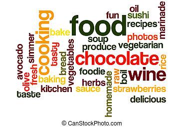 nourriture, wordcloud, cuisine
