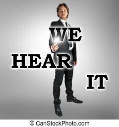nous, écran, -, il, virtuel, entendre, mots