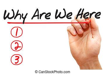 nous, écriture, pourquoi, business, liste, main, concept, ici