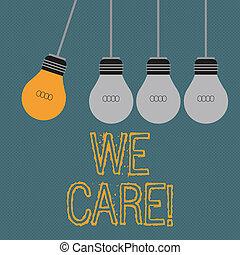 nous, aide, business, donner, photo, projection, attention, gens, écriture, note, showcasing, care., soutien, assistance.