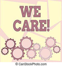nous, aide, donner, texte, projection, attention, gens, signe, photo, conceptuel, care., soutien, assistance.