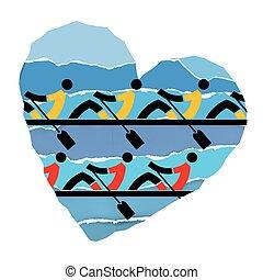 nous, amour, aviron