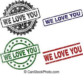 nous, amour, grunge, timbre, cachets, textured, vous