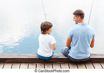 nous, amour, séance, père, ensemble, fils, quayside, quoique...