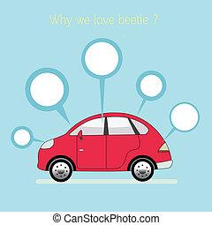 nous, amour, vector., eps10, beetle., pourquoi