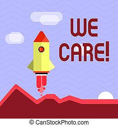 nous, concept, aide, donner, texte, soutien, gens, écriture, signification, attention, écriture, care., assistance.