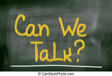 nous, concept, boîte, parler