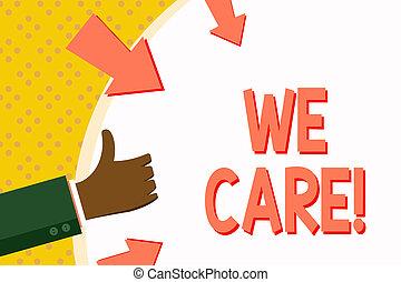 nous, concept, mot, assistance., business, donner, texte, soutien, gens, écriture, attention, care., aide